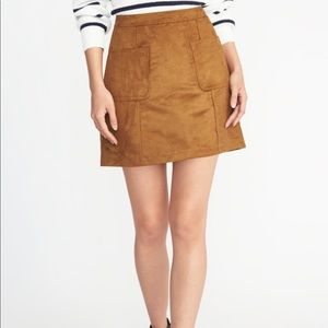 Old Navy | Suede A-Line Skirt